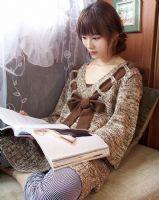 易购物商城 - WWW.E95.CN 毛球带帽针织毛衣HS6089(棕色) 缺货 布料/材质:晴纶 肩38/胸96/衣长75/袖长57……