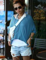 易购物商城 - WWW.E95.CN 短袖蝙蝠两件套 200873(深蓝)
